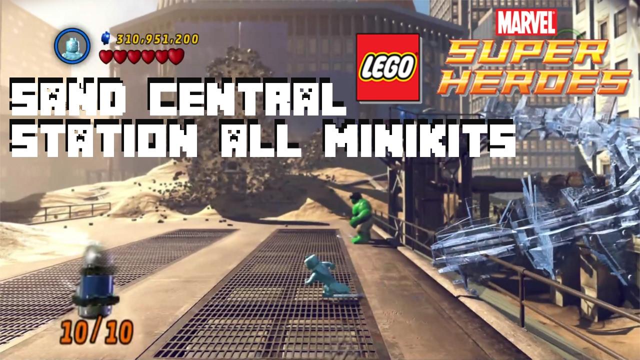 Sand Central Station 100% Walkthrough - All Minikits - Lego Marvel  Superheroes