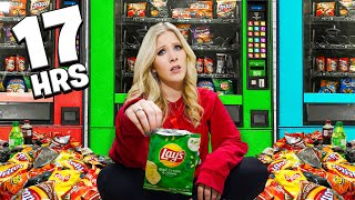 Eating Only VENDING MACHINE Food for 24 Hours! - Challenge