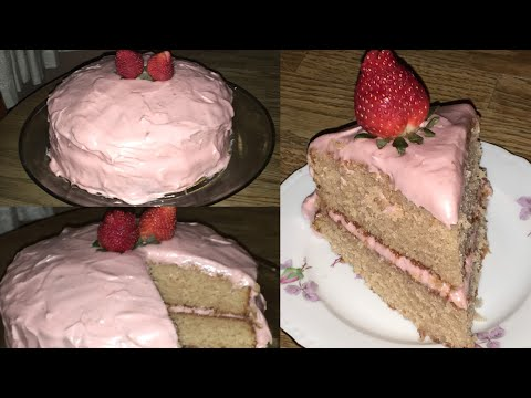 Episode 261: Southern Strawberry Cake| Strawberry Cake From Scratch 🍓