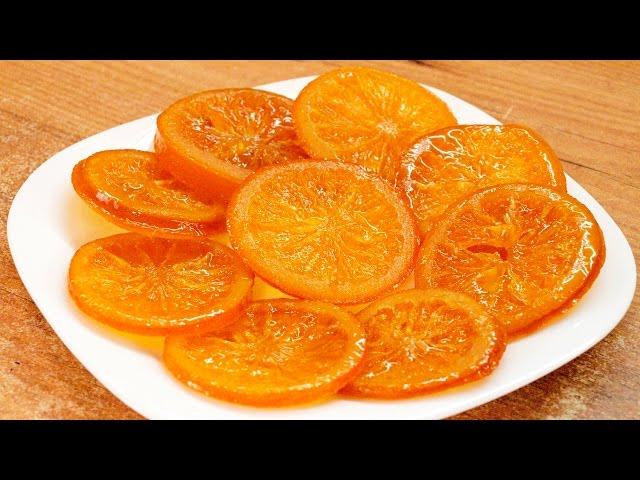 Карамелизированный апельсин / Candied orange slices recipe ♥ English subtitles