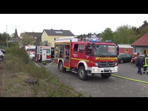 Kats Übung Dauborn - Feuerwehr, Rettungsdienst und THW üben Ernstfall [+Drohne]