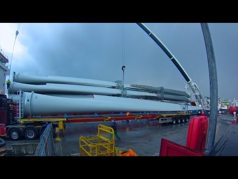 Galway Harbour - Unloading Wind Turbines thumbnail