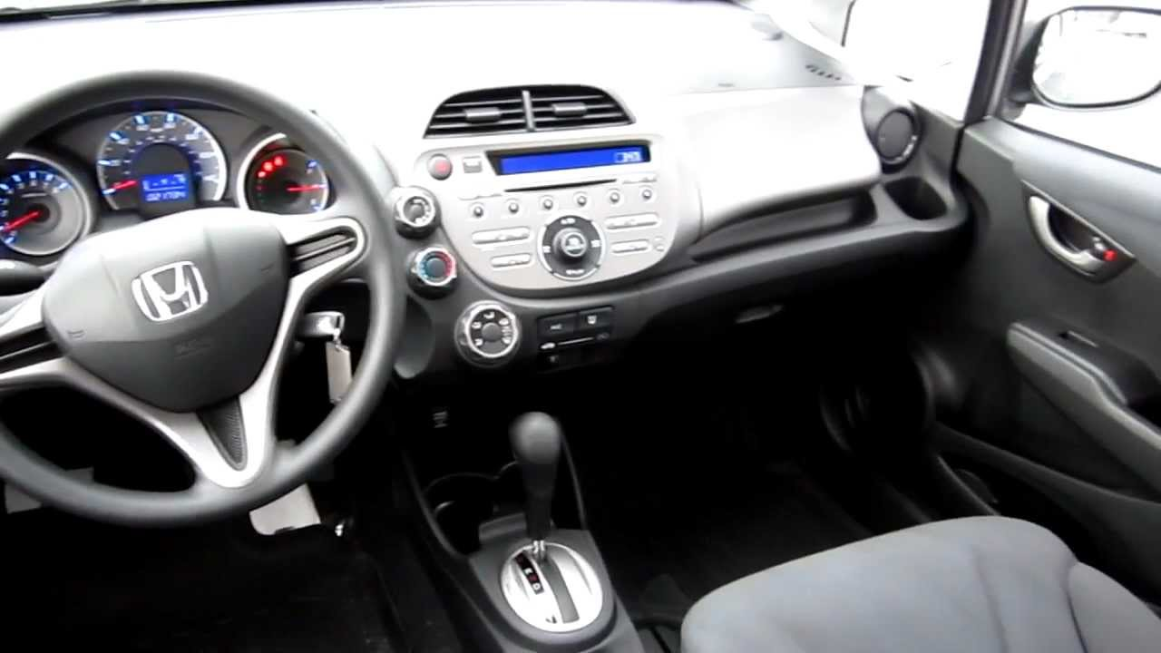 2010 honda fit dx silver stock 6028a interior
