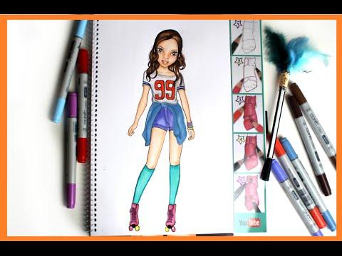 Topmodel Malbuch How To Draw Soy Luna Luna Malen Copics