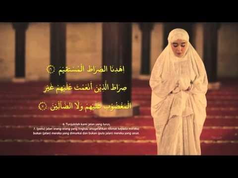 Tuntunan bacaan dan doa sholat : Sholat 2 rakaat (peraga perempuan)