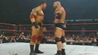 WWE Handicap Match Goldberg vs Evaloution pt 1