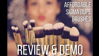 bs mall brushes review demo 20 off code sigma brushes dupes by aarti jovel