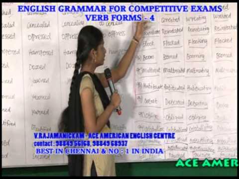 BEST VERB FORMS TRAINING INSTITUTION IN CHENNAI - PH:9840749872 ...