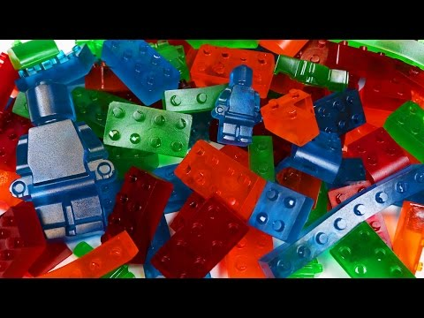 How to Make GUMMY LEGO Jello Candy!