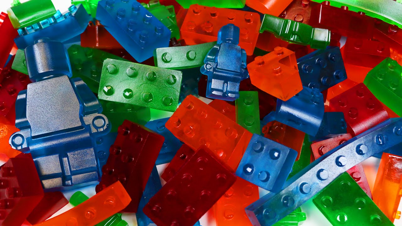 How to Make GUMMY LEGO Jello Candy! - YouTube
