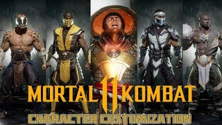 Mortal Kombat 11 - Gear, Skins and Character Customization From The Reveal