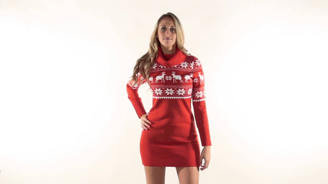 Ugly Christmas Sweater Dress - Fair Isle Sweater Dress by Tipsy ...