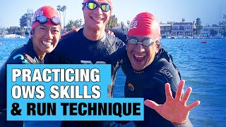 Practicing Open Water Skills + Run Technique | For Triathletes