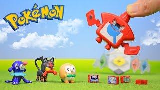 Pokemon Sun and Moon Toys Rotom Pokedex Z-Ring Unboxing Opening