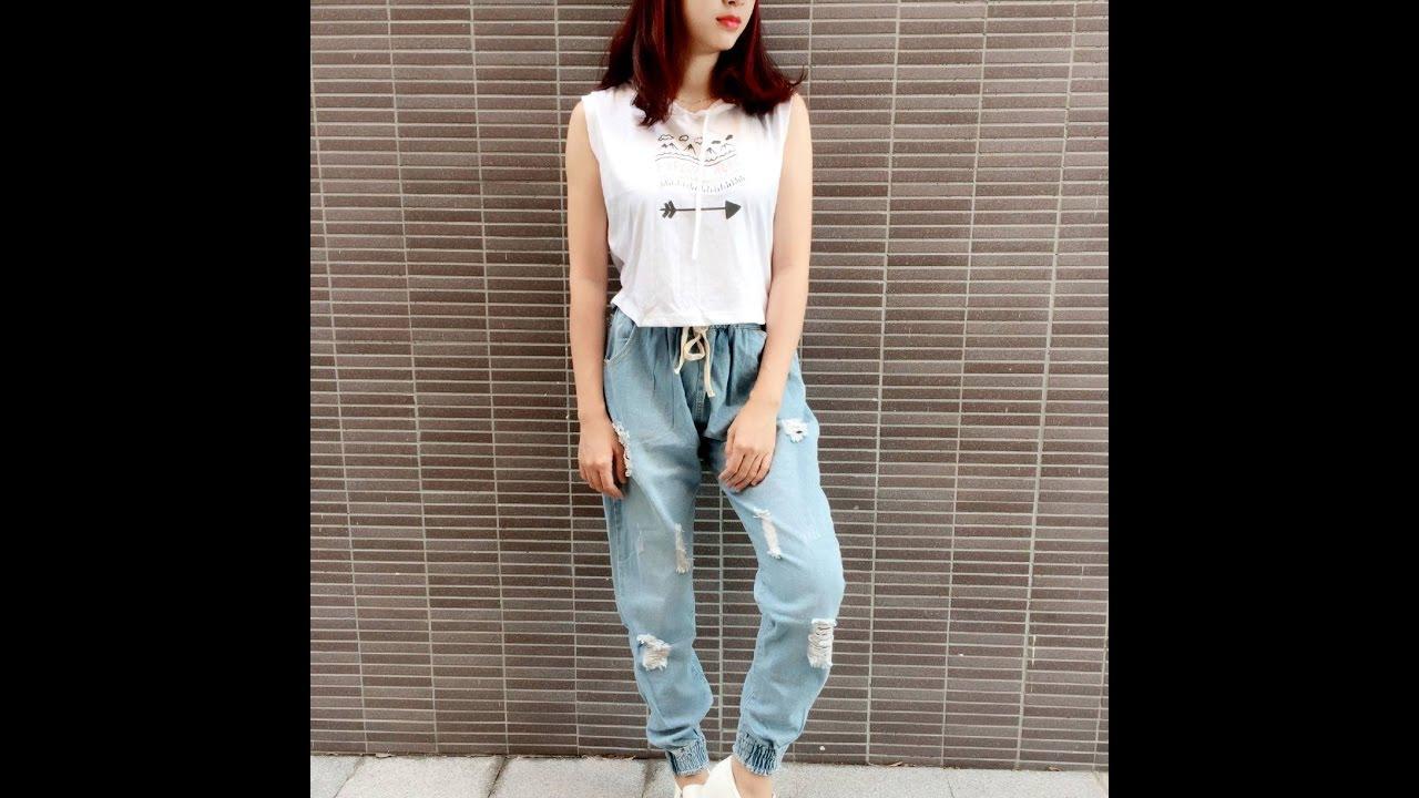 Xu hướng thời trang – Quần baggy jean rách bo lai   Tổng hợp các nội dung nói về shop thời trang nam gò vấp mới cập nhật