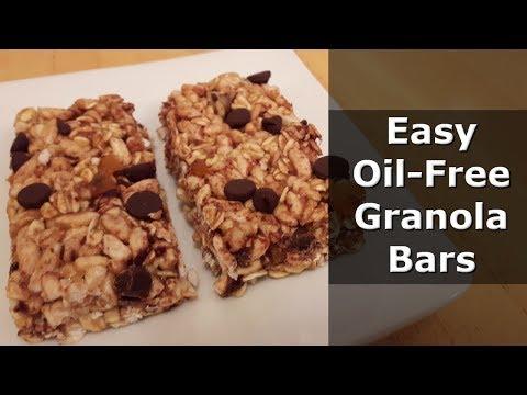 Granola Bar Recipe ~ Oil free ~ gluten free ~ vegan ~
