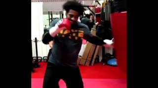 David Haye SMASHES Heavy Bag in London gym