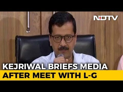 Arvind Kejriwal Meets Lt Governor, Says Centre Defying Supreme Court Mp3