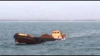 Barge sinking