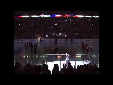 National Anthem at United Center - NHL Stanley Cup Final - Chicago Blackhawks vs Philadelphia Flyers