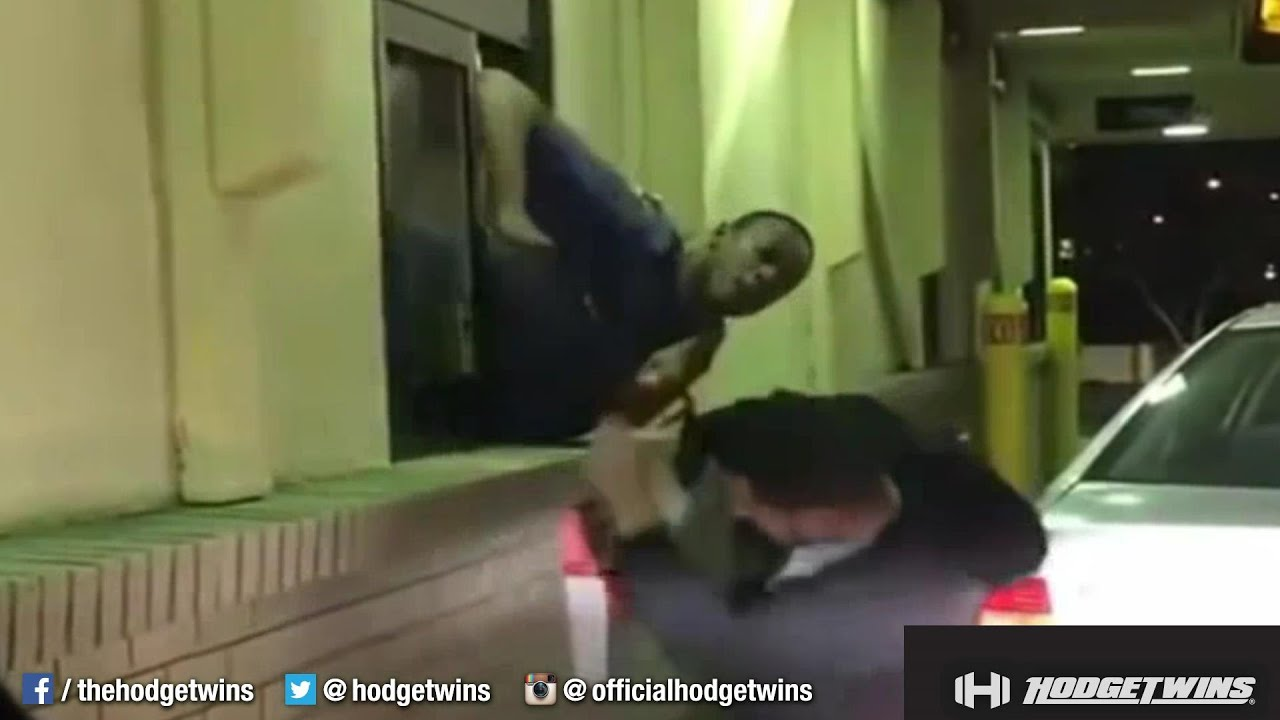 McDonald's Drive Thru Window Fight Caught On Camera @Hodgetwins ...