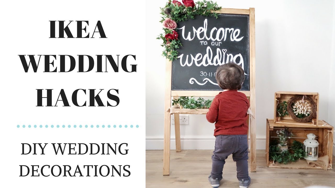 DIY WEDDING CHALKBOARD | IKEA MALA WEDDING HACKS