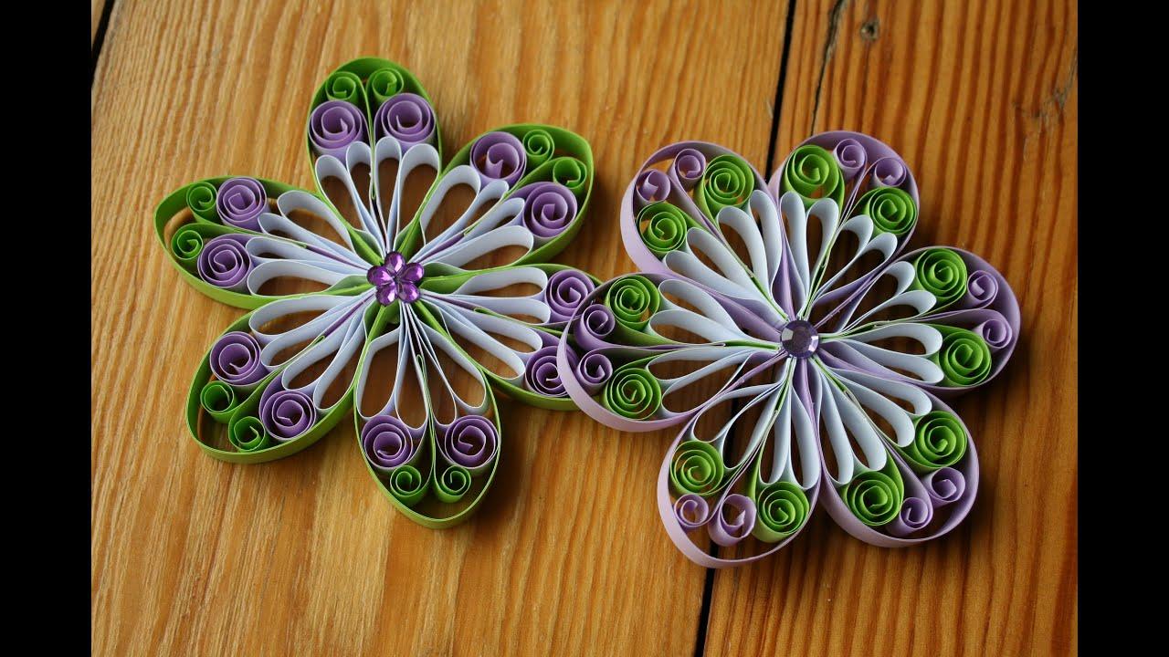 quilling  blüte aus papier selbermachen  youtube