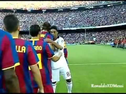 FC Barcelona Vs AC Milan   Ronaldinho Return of the King   25 08 10    YouTube