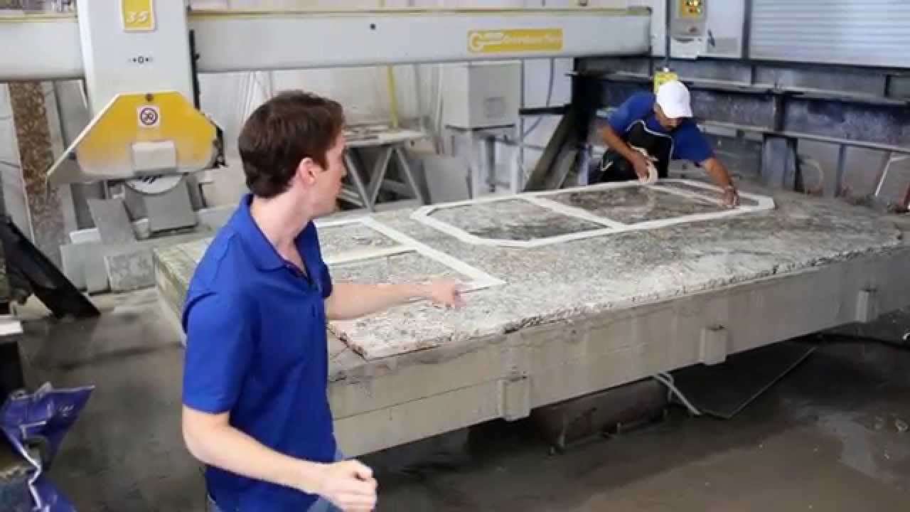 Template Layout Step 2 Granite Fabrication Process Youtube
