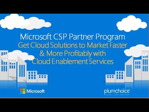 Microsoft CSP Partner Program: Get Cloud Solutions to Market Faster