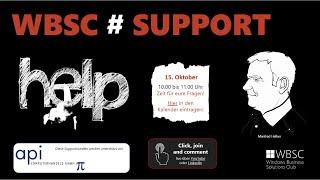 WBSC#SUPPORT Sprechstunde