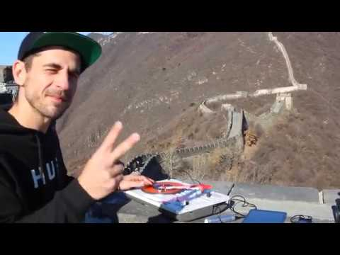 DJ Brace at the Great Wall of China