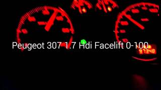Peugeot 307 facelift 1.6 Hdi 0-100