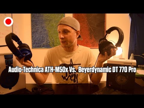 Audio-Technica ATH-M50x Vs. Beyerdynamic DT 770 PRO 80ohm Unboxing And Review