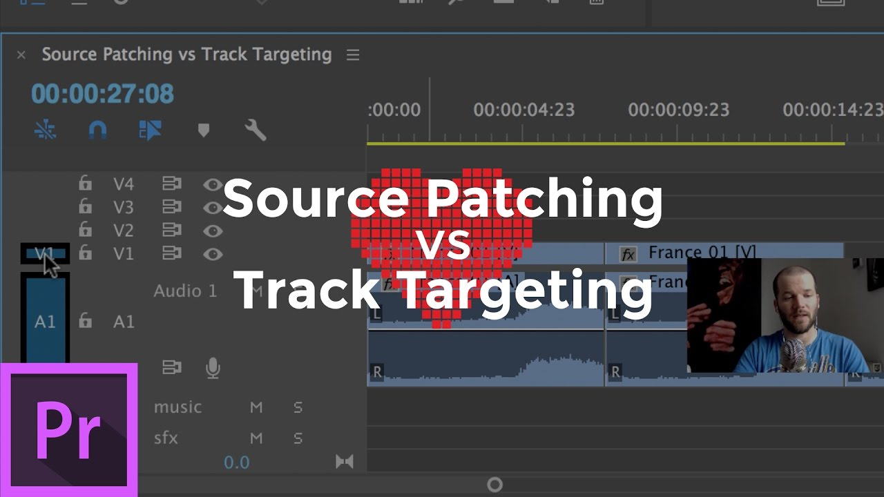 Understand Source Patching and Track Targeting in Adobe