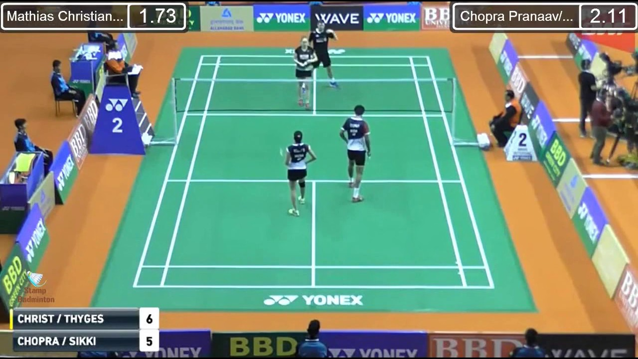 SF India GPG 2017 Mathias CHRISTIANSEN THYGESEN vs CHOPRA REDDY N