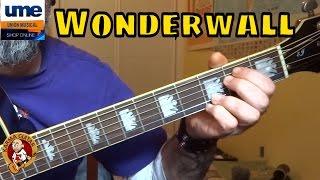 Como tocar WONDERWALL de OASIS en GUITARRA; Tutorial facil