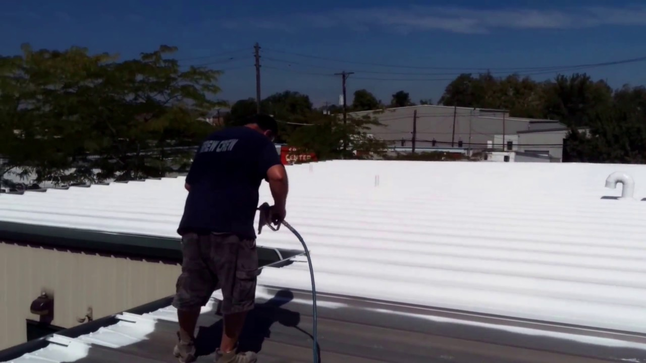 How to spray silicone coating on metal roofs