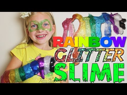 Glitter Slime -- How to Make It AND Play With It!