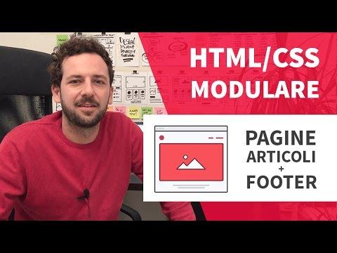 Creare Un Sito Html/CSS Modulare #4 - Pagine Interne E Footer