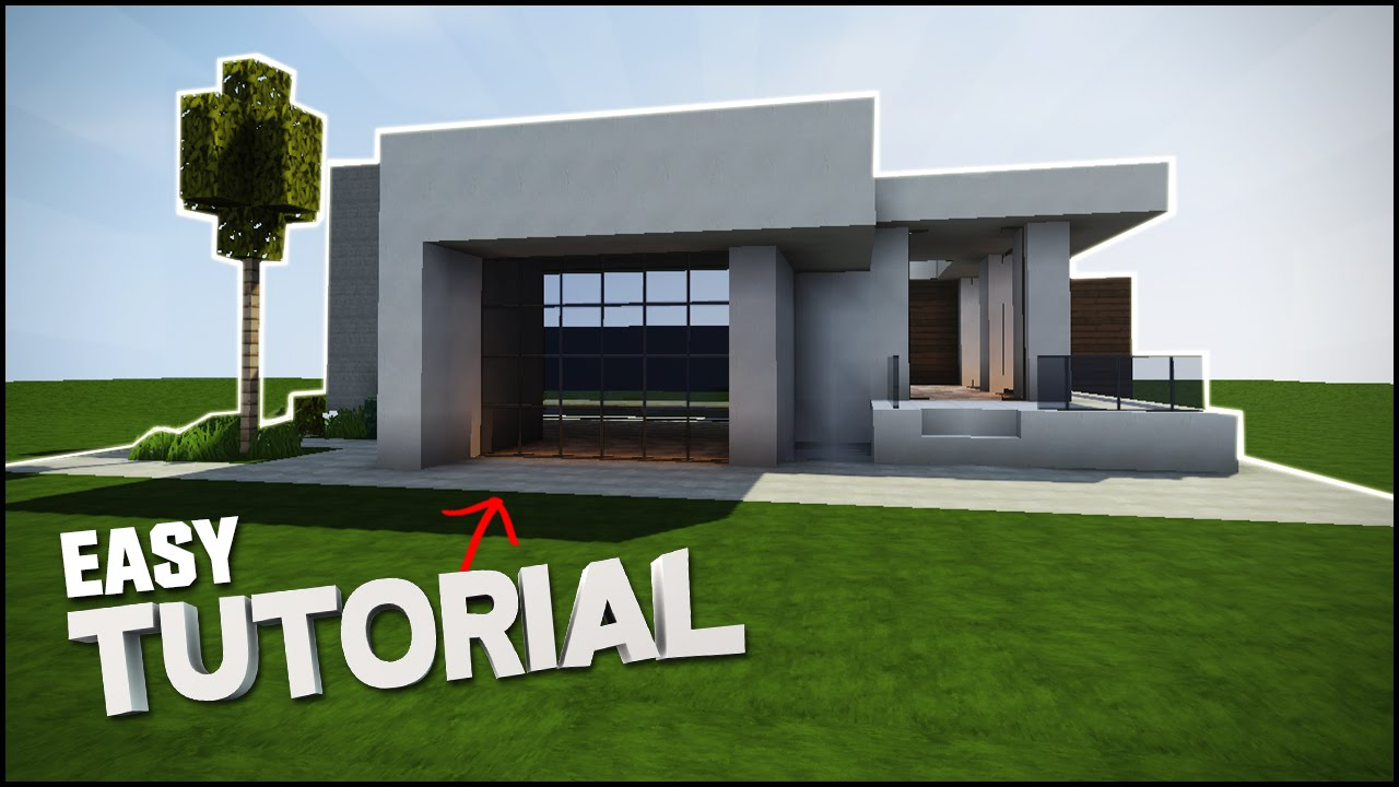 Minecraft House Tutorial Survival Modern House Best House Tutorial Youtube