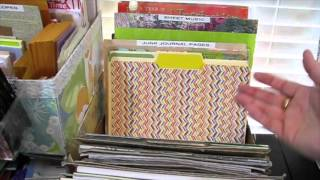 2015 Art Room Tour: Organizing Junk Journal Fodder