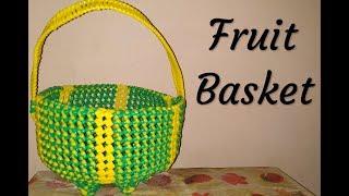 Fruit Basket in Kannada PART-1 | BangaloreBasket | BasketMaking