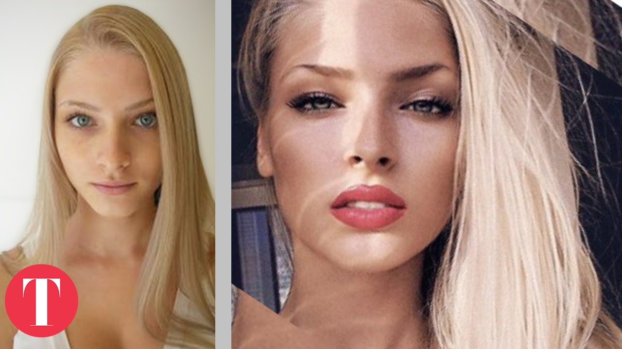 10 hot instagram stars before plastic surgery - youtube