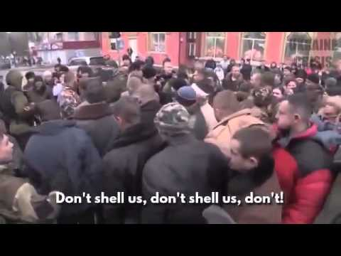War in Ukraine. 28Jan.2015. The Capture Poroshenko's thugs at the Donetsk airport.