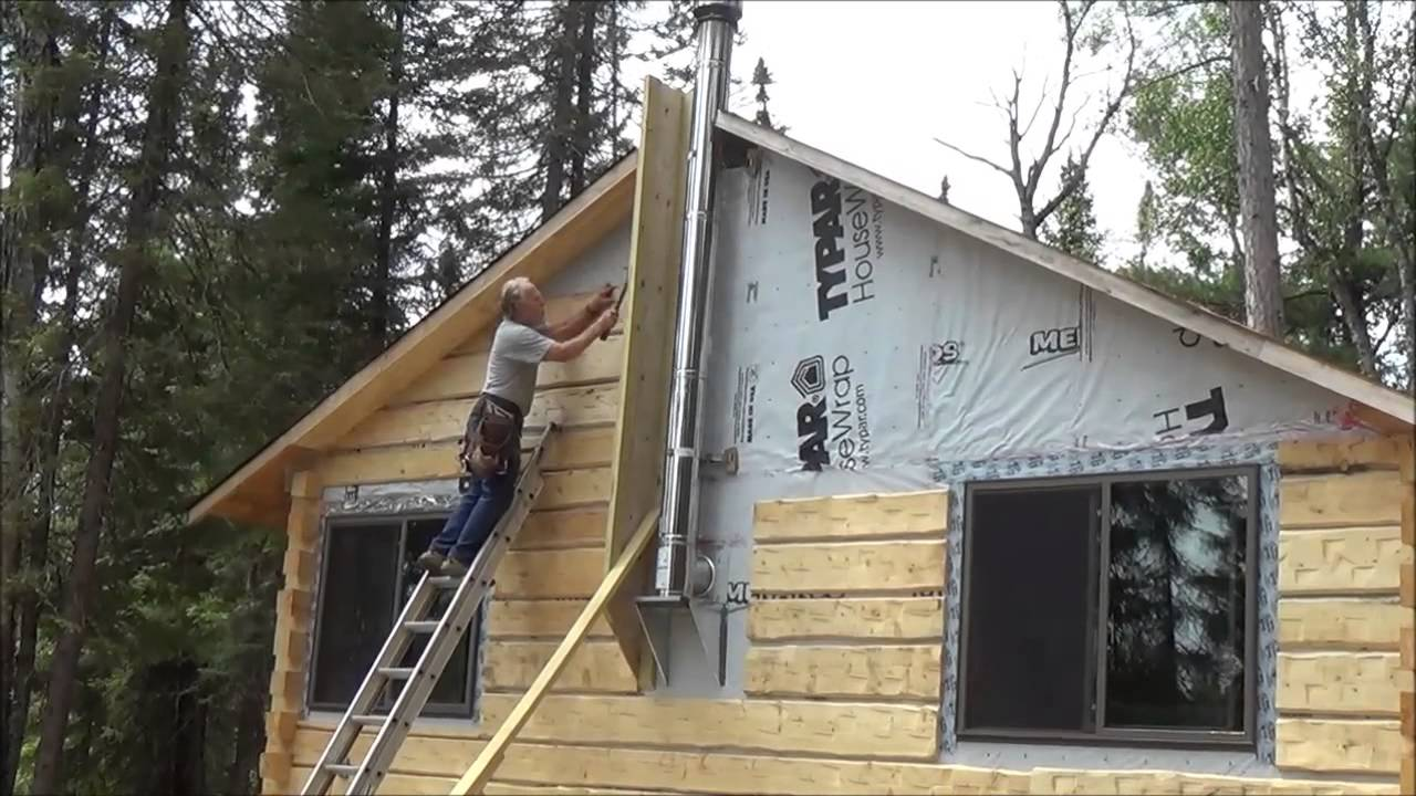 The Backwoods Cabin Episode 16 Ceiling Beams And Siding