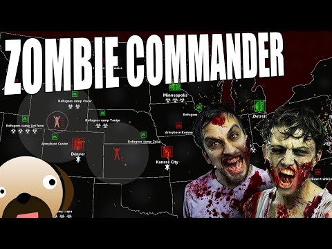 ZOMBIE HORDES DESTROYING THE UNITED STATES - Zombie Commander Gameplay