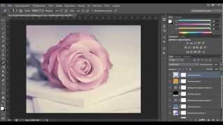 Уроки фотошопа. Обработка фотографии в мягких пурпурных тонах