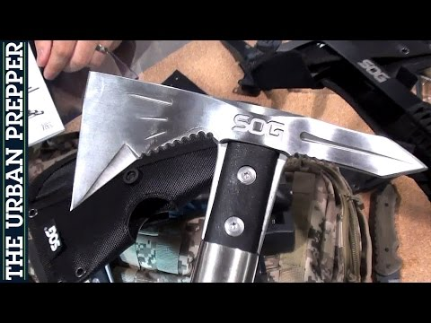 "SOG: Tomahawks, Knives & Folders; ""OH MY!"" (Shot Show 2015) By TheUrbanPrepper"