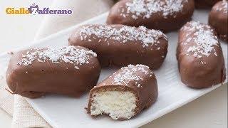 Le barrette cocco e cioccolato sono una merenda super golosa; uno s...